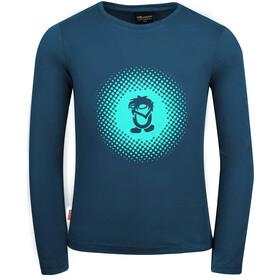 TROLLKIDS Pointillism Longsleeve Shirt Girls midnight blue/dark mint
